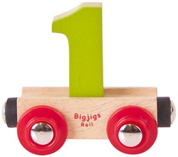 BigJigs Rail Name Number 1 , Cijferwagon 1
