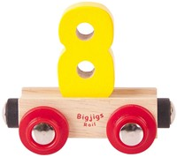 BigJigs Rail Name Number 8 , Cijferwagon 8
