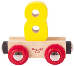 BigJigs Rail Name Number 8 , Cijferwagon 8