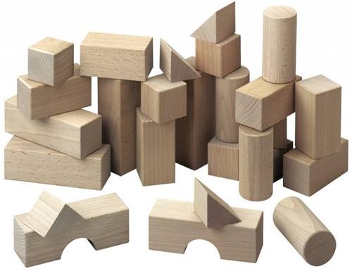 Haba  houten bouwblokken Basispakket (26 blokken)-1