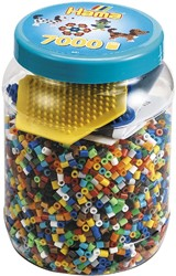 Hama strijkkralen 2021 Tub 7000 Beads And Pegboards