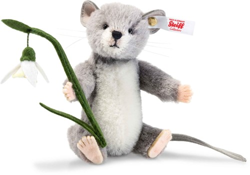 Steiff limited edtition knuffel Lena mouse, grey 12 cm