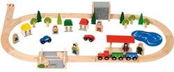 BigJigs  houten trein set Dorpstreinset