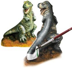 Ses  knutselspullen Figuren gieten T-rex