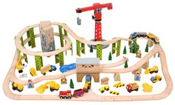 BigJigs Construction Train Set