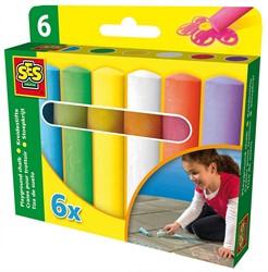 SES buitenspeelgoed Stoepkrijt 6 pack