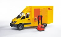 Bruder MB sprinter DHL + handpallettruck-2