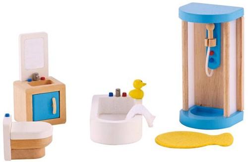 Hape houten poppenhuis meubels Badkamer