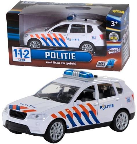 112 Politieauto+licht/gel.1:43