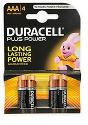 Duracell 4x AAA batterijen