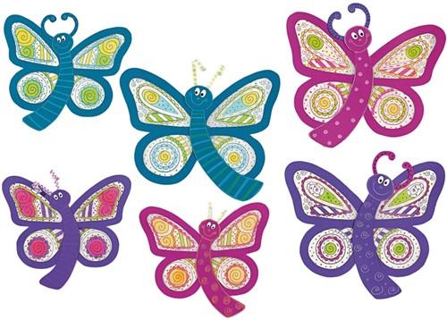 Haba Education - Window Butterflies, 6 pieces