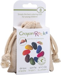 Crayon Rocks teken en verfspullen Cotton Muslin 8 colors