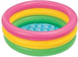 Intex opblaasbaar baby zwembad Neon kleuren 86x25cm