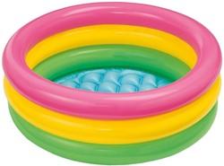 Intex opblaas zwembad voor baby Neon kleuren 61x22cm