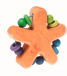 Grimm's grasping toy Star, blue-green