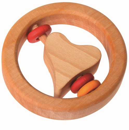 Grimm's grasping toy Little Heart, with wooden discs