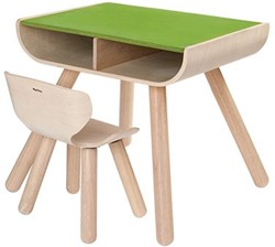 Plan Toys  houten kindermeubel Tafel en stoel