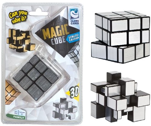 Clown Magic Puzzle Cube Silver