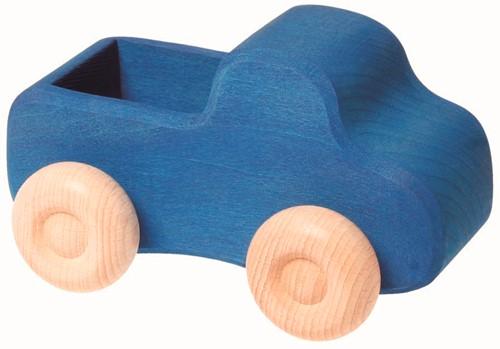 Grimm's houten vrachtwagen klein blauw