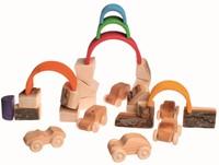 Grimm's houten blokken met schors 15 delig-3