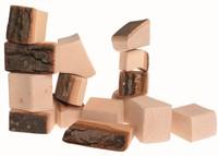 Grimm's houten blokken met schors 15 delig
