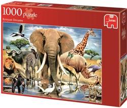 Jumbo legpuzzel Dieren uit Kenia - 1000 stukjes
