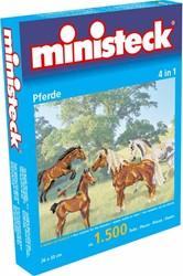 Ministeck  knutselspullen Paarden 4 in 1 1500 stukjes