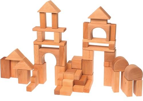 Grimm's set bouwblokken naturel