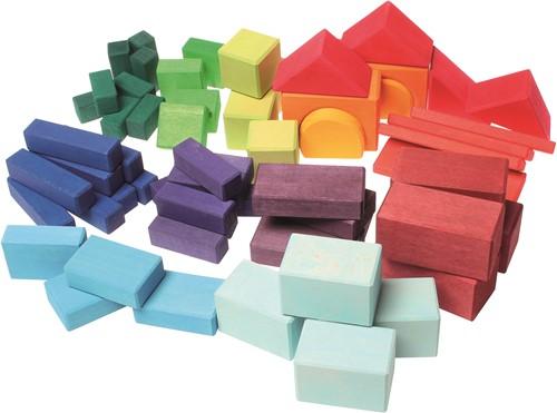 Grimm's houten blokken gekleurd 60 delig