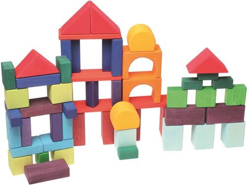 Grimm's houten blokken gekleurd 60 delig-2