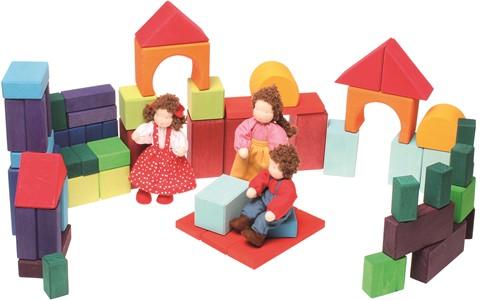 Grimm's houten blokken gekleurd 60 delig-3