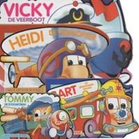 Planet Happy  kleinspeelgoed Mini motor kartonboekjes