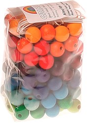 Grimm's 120 Coloured Wooden Beads, 12mm
