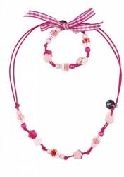 Souza Ketting + Armband Inge, volledig elastisch, multi roze (6 sets)