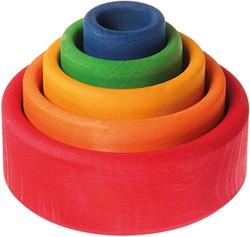 Grimm's set van gekleurde houten bakjes 10351