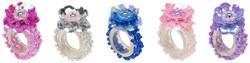 Souza Ring Jessy, fuchsia+roze+blauw+lila+zilver (8+8+3+3+2 stuks)