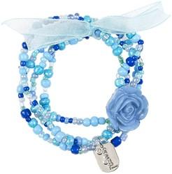 Souza Armband Carli, blauw, volledig elastisch (6 kaartjes)