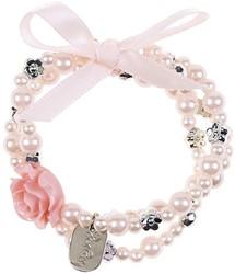 Souza Armband Carolien, l.roze-zilver, volledig elastisch (6 kaartjes)