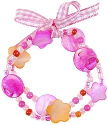 Souza Armband Ciske, roze-oranje, volledig elastisch