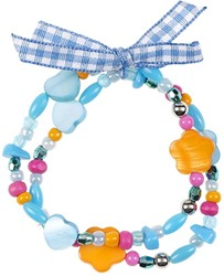Souza Armband Ciske, blauw-oranje, volledig elastisch (6 stuks)
