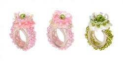 Souza Ring Floranne, roze-roze-groen, volledig elastisch (8+8+8 stuks)
