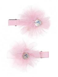 Souza Haar clips Fabienne, met kleine bloemen, l. rose (2 stuks/kaartje, 6 kaartjes)
