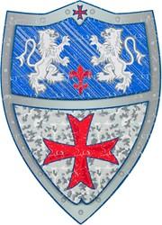 Souza Schild Roger, foam blauw (1 stuk)