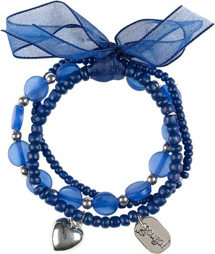Souza Armband Miley, kralen marine blauw (1 stuk)