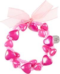 Souza Armband Aya, hartjes roze-fuchsia (1 stuk)