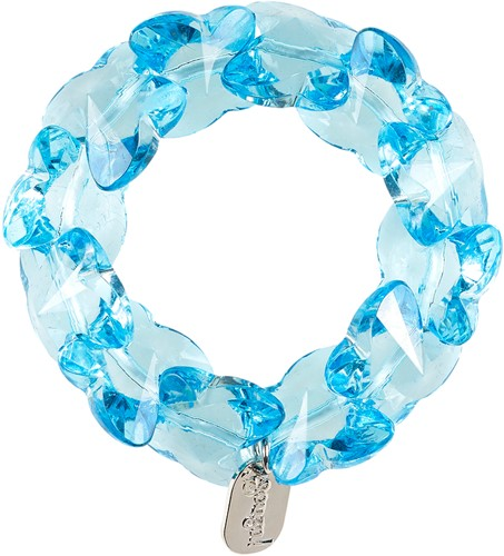 Souza Armband Jony, hartjes blauw (1 stuk)