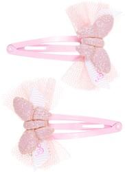 Souza Haar clip Harper, met strik-vlinder l. roze (2 stuks/ kaartje)
