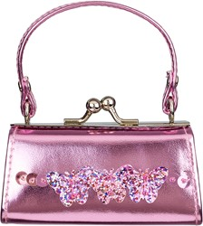 Souza Portemonee Nicoline, roze metallic tas model met vlinders (1 stuk)