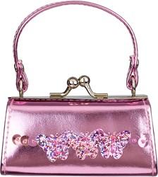 Souza Portemonnee Nicoline, roze metallic tas model met vlinders (1 stuk)