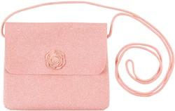 Souza Tas Bapke, l. roze glitter met roos (1 stuk)
